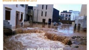 Les inondations sont à la Une des journaux et sites d'information au Sénégal.