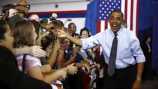 O presidente dos Estados Unidos e candidato à reeleição, Barack Obama, aposta no eleitorado feminino de Estados-chave para as eleições americanas, como o Colorado (foto), onde esteve nesta quarta-feira.