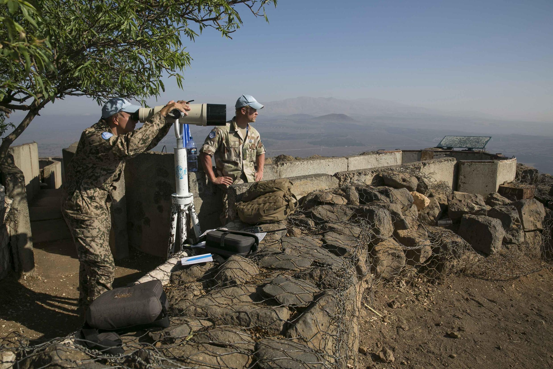 Một chốt canh của lính mũ nồi xanh (UNDOF) trên cao nguyên Golan.