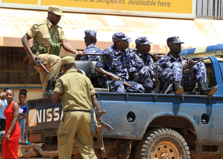 Wasu jami'an tsaron Uganda.