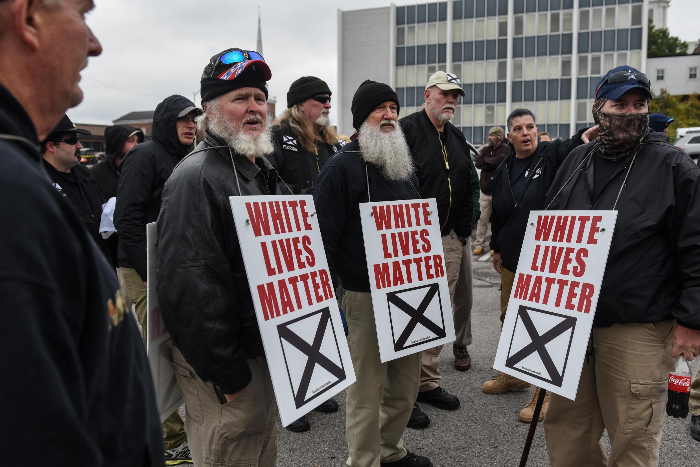 Rassemblement de suprémacistes blancs à Shelbyville, le 28 octobre 2017.