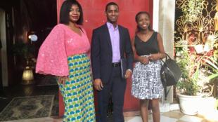Aminetou Bilal (Mauritânia), Adilson Mendes Cabral (Cabo-Verde) e Elvira Gazira (Burundi), jovens da iniciativa «Youth Plug-In»