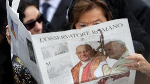 «Femme, Eglise, Monde» était le supplément mensuel de l'Osservatore Romano le quotidien du Saint-Siège.