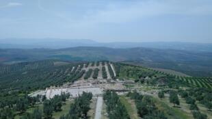Vista desde el castillo del Parque arqueológico de Torreparedones. Baena, provincia de Córdoba, España.