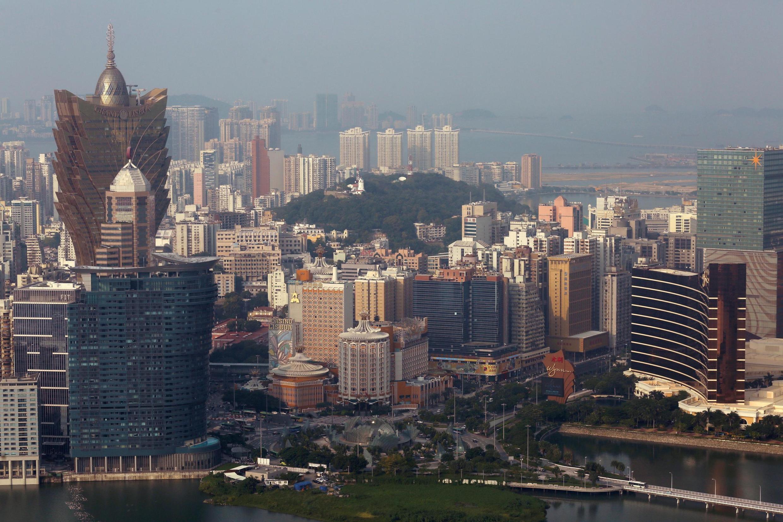 Vista geral de Macau e seus cassinos.