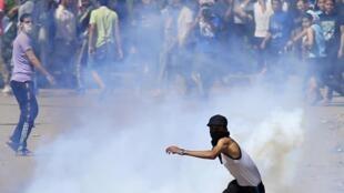 Manifestation étudiante au Caire, le 9 mai 2014.