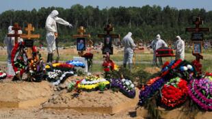 Russia covid enterrement