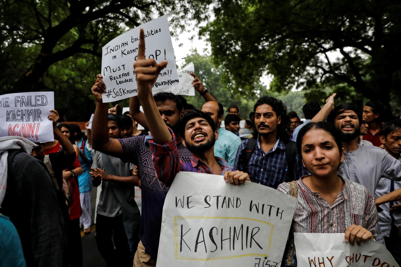 Biểu tình ủng hộ Cachemire tại New Delhi (Ấn Độ), ngày 05/08/2019.