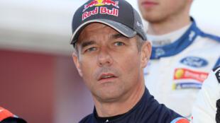 Sébastien Loeb avant le départ du rallye Monte-Carlo, à Monaco, le 23 janvier 2020