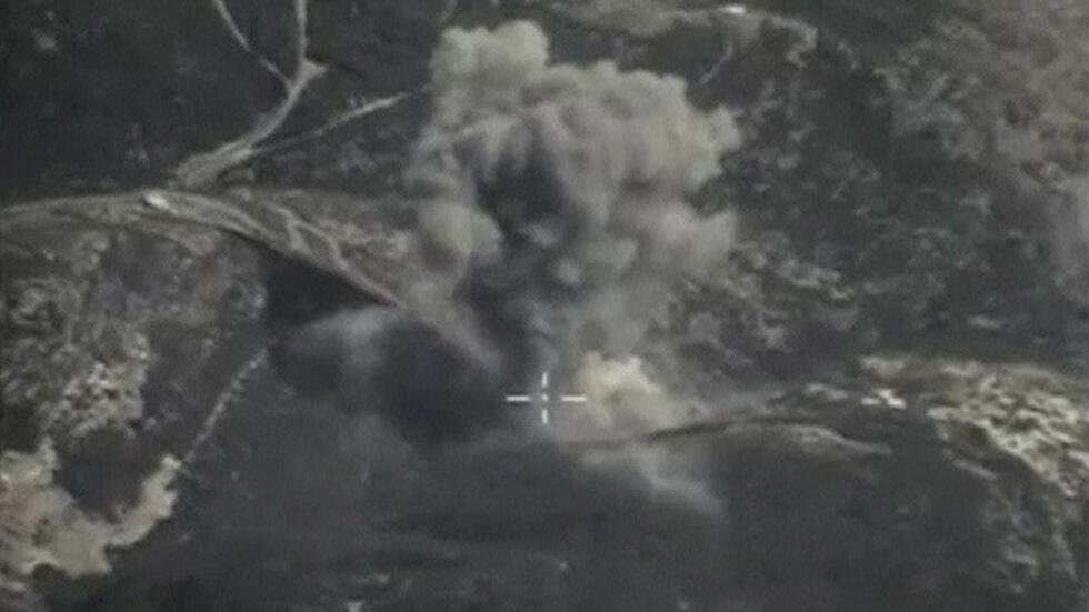 Imagem dum bombardeamento russo na Síria