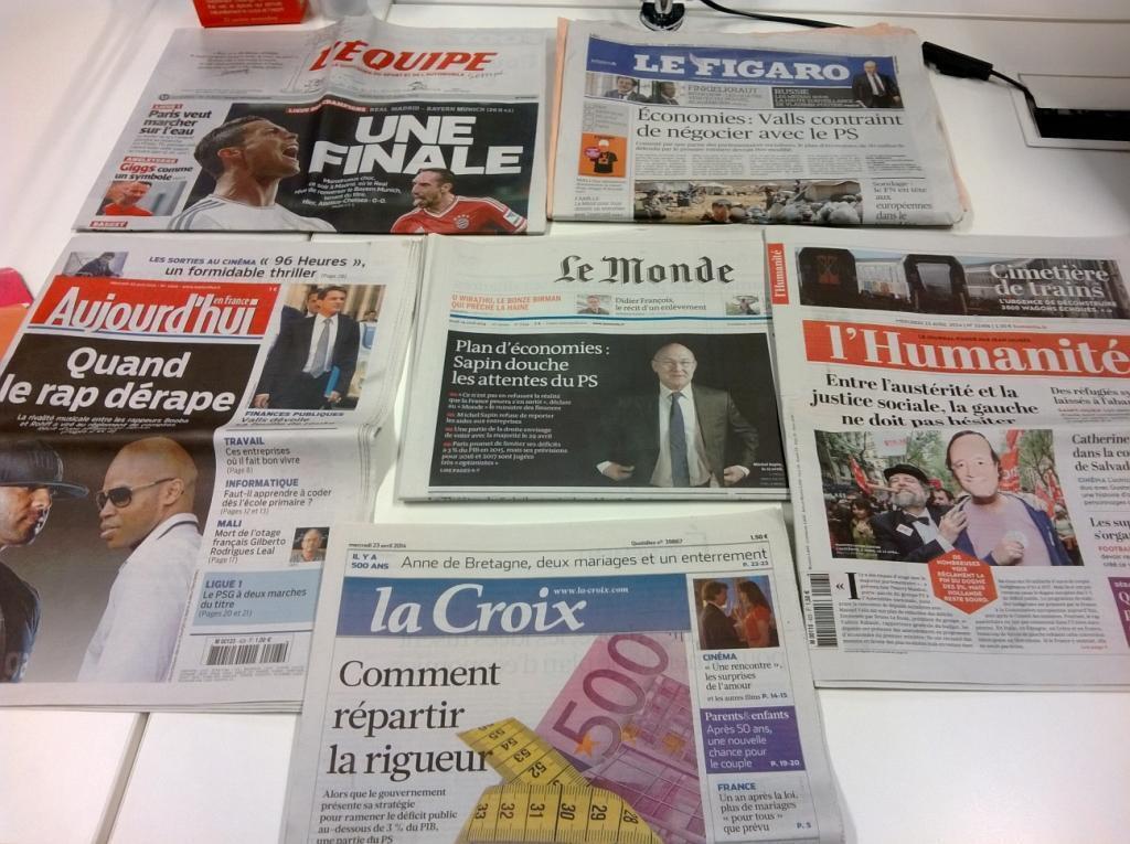 Diários franceses 23/04/2014