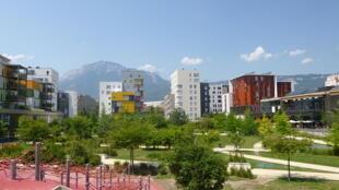 Vue de l'écoquartier de Bonne à Grenoble.