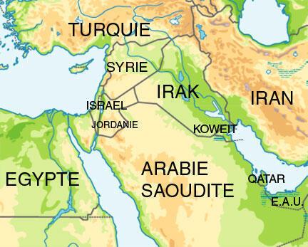 Carte Proche et Moyen Orient