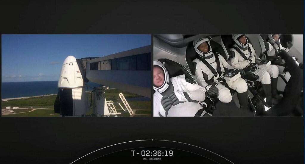 Space X - Les quatre astronautes - 000_9MX4PE