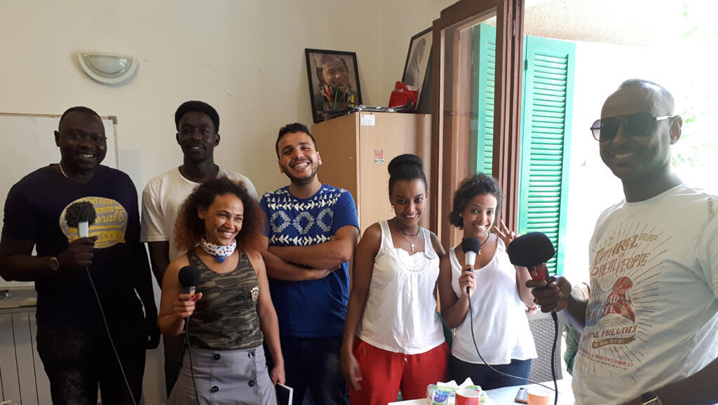 Atelier Microcamp Radio au Migrant Community center à Beyrouth.