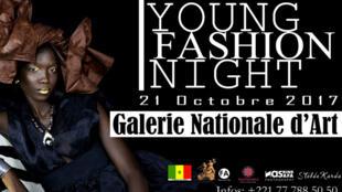 Affiche de la 3ème édition de la Young fashion night, grand défilé de jeunes créateurs africains à la Galerie nationale d'art à Dakar, le 21 octobre.