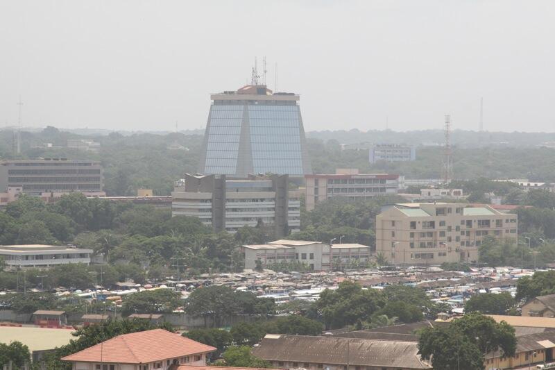 Centre ville d'Accra au Ghana.