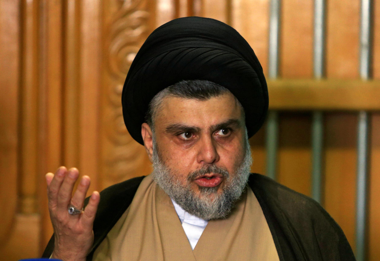 Au fil des années, le mouvement de Moqtada al-Sadr à Najaf, le 17 mai 2018. Moqtada Sadr s'est imposé comme une force incontournable dans le paysage politique irakien.