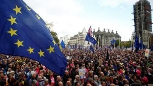 Manifestation anti-Brexit, le 19 octobre 2019, à Londres.