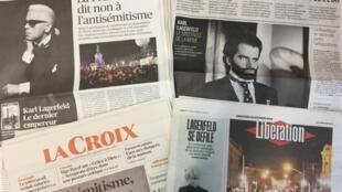 Primeiras páginas dos diários franceses de 20/02/2019.