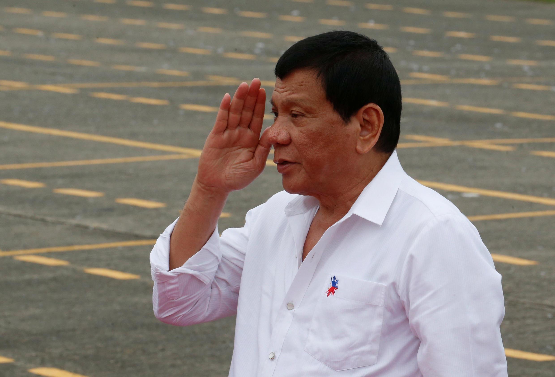 圖為菲律賓總統杜特爾特