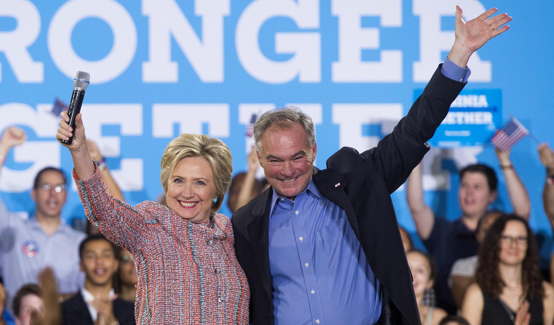 Tim Kaine vient d'être choisi par Hillary Clinton pour être son colistier, quelques jours avant le début de la convention démocrate le lundi 25 juillet.