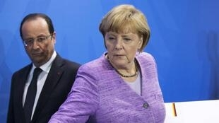 French President François Hollande and German Chancellor Angela Merkel