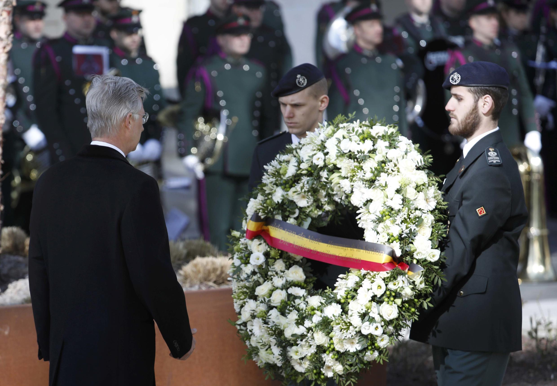 Vua Bỉ Philippe tưởng niệm các nạn nhân, Bruxelles, 22/03/2017.
