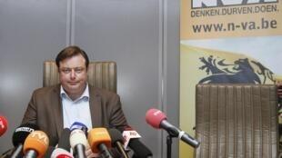 Bart De Wever, le leader des indépendantistes flamands.
