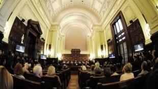O Supremo Tribunal argentino durante decisão sobre a constitucionalidade da Lei de Meios Audiovisuais.