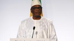 Le président malien Ibrahim Boubacar Keita, le 13 décembre 2017.