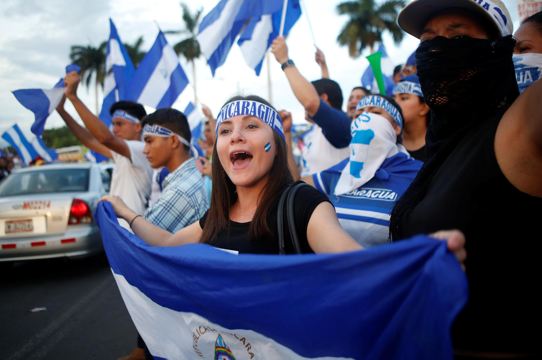 Manifestation contre le président Ortega. Managua, ce jeudi 17 mai 2018.