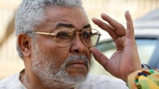 Rais wa zamani wa Ghana Jerry Rawlings.