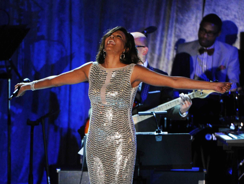 La chanteuse Whitney Houston en 2011.
