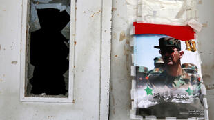 Les vitres de l'hôpital de Jableh (ici le 23 mai 2016) ont volé en éclat après les attaques du groupe EI.