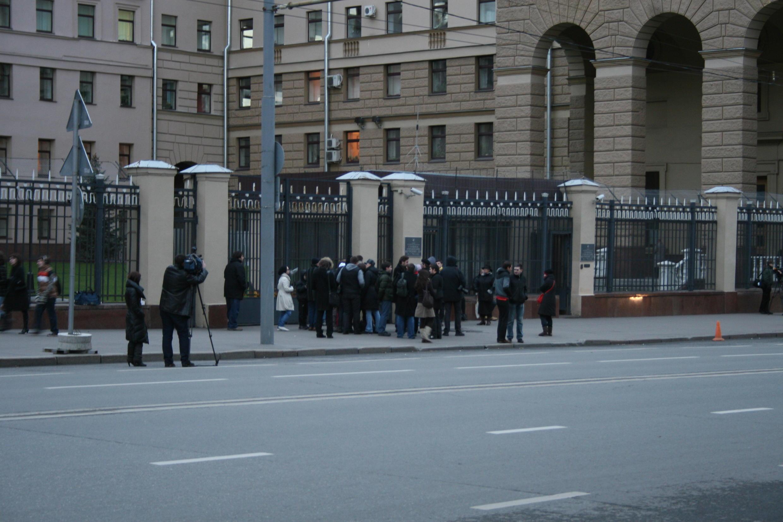 Пикет у здания московского ГУВД в защиту Олега Кашина, 6 ноября 2010