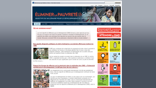 Site internet pour les Objectifs du Millénaire pour le développement.