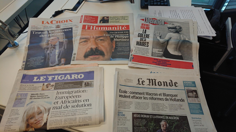 Diários franceses 29.08.2017