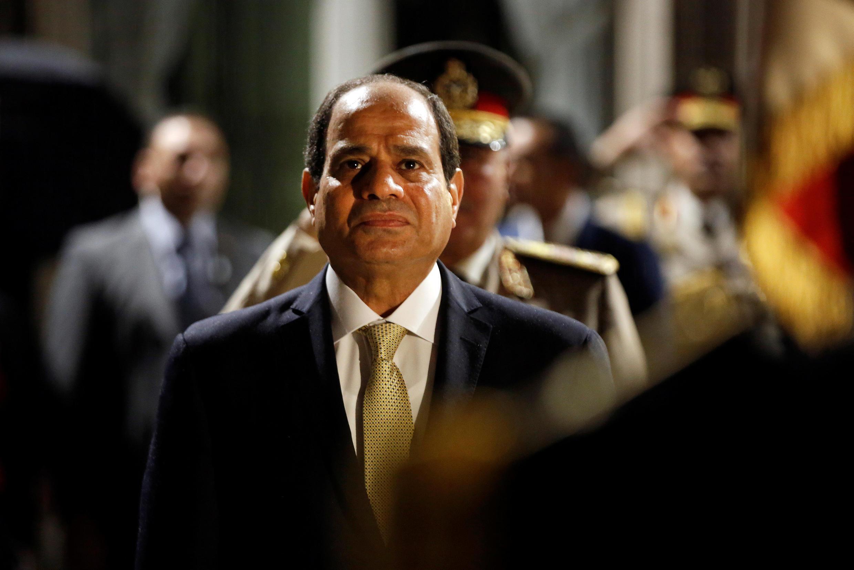 Tổng thống Ai Cập  Abdel Fattah al-Sisi đến Paris. Ảnh chụp ngày 23/10/2017.