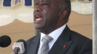 Laurent Gbagbo, président de la Côte d'Ivoire depuis octobre 2000.