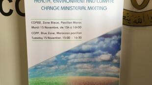 Encontro ministerial sobre saúde, ambiente e questões climáticas