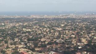 Vue aérienne de Lomé, au Togo.