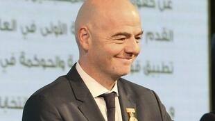 Le Secrétaire général de la Fifa et candidat à la présidence de la Fifa, Gianni Infantino.