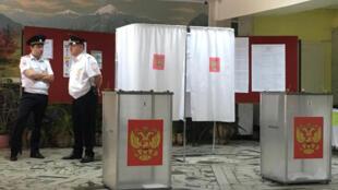Избирательный участок во Владикавказе 10 сентября 2017