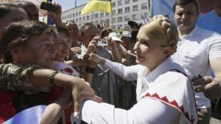 A quatro dias da eleição presidencial, marcada para o próximo domingo na Ucrânia, a campanha eleitoral continua . A ex-primeira ministra Iulia Timoshenko na cidade de Konotop, a 187 quilômetros de Kiev.
