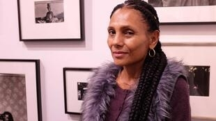 La photographe afro-américaine Ming Smith à Paris Photo 2019, sur le stand de la galerie Jenkins Johnson.