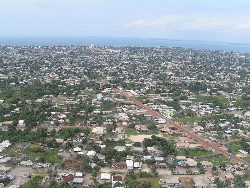 Vue aérienne de Port-Gentil au Gabon
