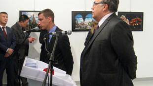 Посол России в Турции Андрей Карлов на выставке «Россия глазами Турции», Анкара, 19 декабря 2016.