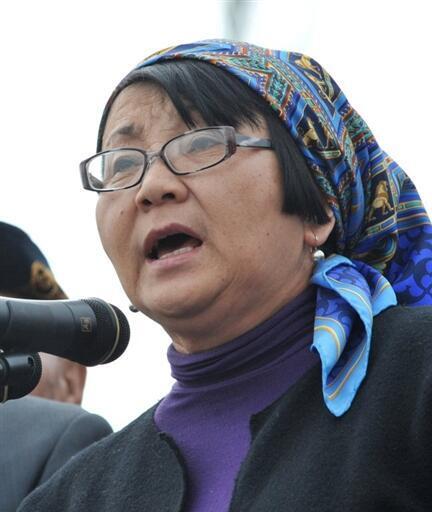 Rosa Otounbaïeva, présidente par intérim du Kirghizistan.