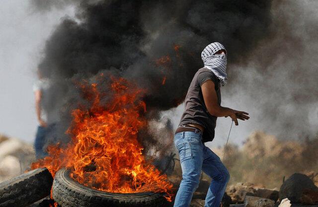 巴勒斯坦人与以色列军警爆发冲突。2017-07-22